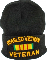View Buying Options For The Disabled Vietnam Veteran Ribbon Mens Cuff Beanie Cap