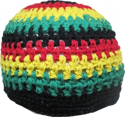 View Buying Options For The Jamaican Rasta Tri-Color Vine Knit Crocheted Kufi Mens Beanie Cap