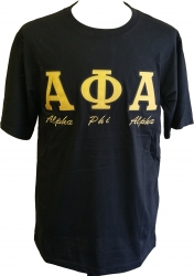 View Buying Options For The Alpha Phi Alpha Fraternity Applique Mens Tee