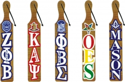 View Buying Options For The Greek Or Masonic Acrylic Letter Topped Paddle