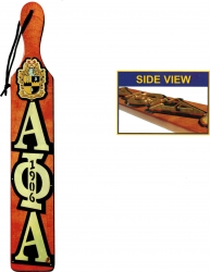 View Buying Options For The Alpha Phi Alpha Mirror Letter Topped Paddle