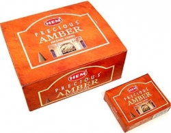 View Buying Options For The HEM Precious Amber Incense Cones [Pre-Pack]