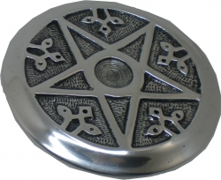 View Buying Options For The New Age Pentacle Round Metal Incense Burner Set [Pre-Pack]