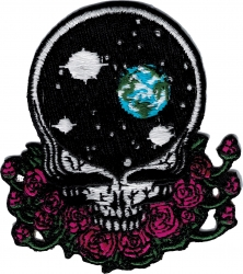 View Buying Options For The Greatful Dead Space Skull Steal Your Face Iron-On Patch