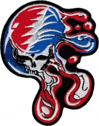 View Buying Options For The Greatful Dead Melting Deadhead Skull Iron-On Patch