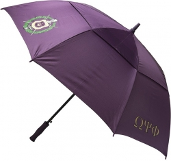 View Buying Options For The Omega Psi Phi Classic Jumbo Air-Vent Umbrella