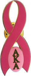View Buying Options For The Alpha Kappa Alpha Pink Ribbon Lapel Pin