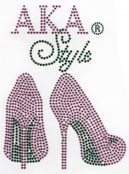 View Buying Options For The Alpha Kappa Alpha Style Heels Heat Transfer