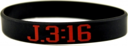 View Buying Options For The John 3:16 Silicone Rubber Wristband Bracelet [Pre-Pack]