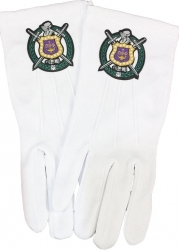 View Buying Options For The Omega Psi Phi Woven Shield Emblem Ritual Gloves