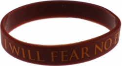 View Buying Options For The I Will Fear No Evil Silicone Rubber Wristband Bracelet [Pre-Pack]