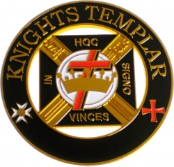 View Buying Options For The Knights Templar Cut Out Heavy Weight Car Emblem