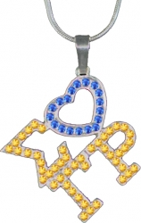 View Buying Options For The Sigma Gamma Rho Ladies Crystal Heart Necklace