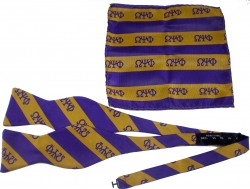 View Buying Options For The Omega Psi Phi Striped Mens Bow Tie & Handkerchief Set