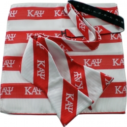 View Buying Options For The Kappa Alpha Psi Striped Mens Bow Tie & Handkerchief Set