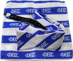 View Buying Options For The Phi Beta Sigma Striped Mens Bow Tie & Handkerchief Set