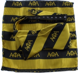 View Buying Options For The Alpha Phi Alpha Striped Mens Bow Tie & Handkerchief Set