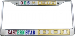 View Buying Options For The Eastern Star + Daughters of Isis Split License Plate Frame