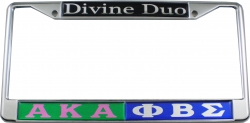 View Buying Options For The Alpha Kappa Alpha + Phi Beta Sigma Divine Duo Split License Plate Frame