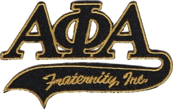 View Buying Options For The Alpha Phi Alpha Tail Tackle Twill Iron-On Patch