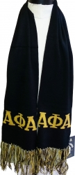 View Buying Options For The Alpha Phi Alpha Mens Knit Scarf