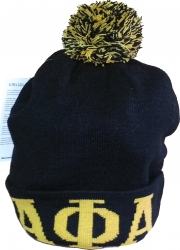 View Buying Options For The Alpha Phi Alpha Knit Cuff Beanie Cap with Ball