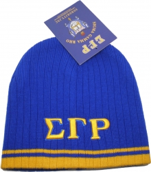 View Buying Options For The Sigma Gamma Rho Striped Short Beanie Cap