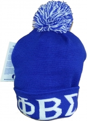 View Buying Options For The Phi Beta Sigma Knit Cuff Beanie Cap with Ball