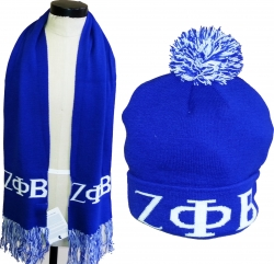 View Buying Options For The Zeta Phi Beta Knit Beanie Cap & Scarf Set