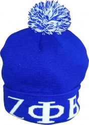 View Buying Options For The Zeta Phi Beta Knit Cuff Beanie Cap with Ball