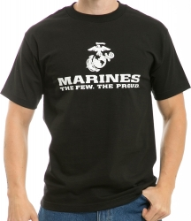 View Buying Options For The RapDom Marines The Few The Proud Military Graphics Mens Tee