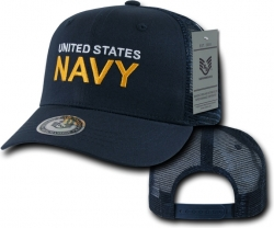View Buying Options For The RapDom Navy Text Back To The Basics Mesh Mens Cap