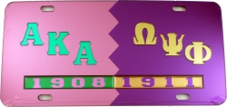 View Buying Options For The Alpha Kappa Alpha + Omega Psi Phi Split Mirror License Plate