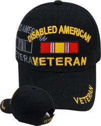 View Buying Options For The Disabled American Veteran Ribbon Shadow Mens Cap