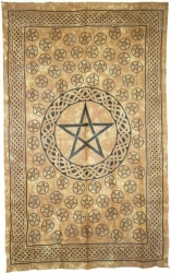 View Buying Options For The Pentagram Bedspread Cloth Tapestry
