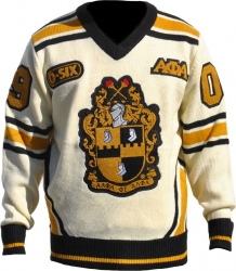 View Buying Options For The Alpha Phi Alpha Divine 9 Mens V-Neck Sweater