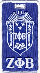 View Buying Options For The Zeta Phi Beta Crest Luggage Tag