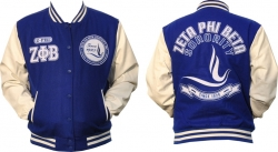 View Buying Options For The Zeta Phi Beta Divine 9 S3 Ladies Wool & Leather Jacket
