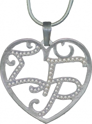 View Buying Options For The Sigma Gamma Rho Ladies Crystal Filigree Heart Necklace