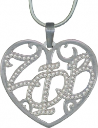 View Buying Options For The Zeta Phi Beta Ladies Crystal Filigree Heart Necklace