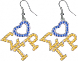 View Buying Options For The Sigma Gamma Rho Ladies Crystal Heart Earrings
