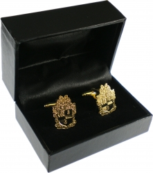 View Buying Options For The Alpha Phi Alpha Shield Sandblasted Cuff Links with Box