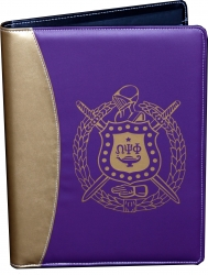 View Buying Options For The Omega Psi Phi Shield Padfolio