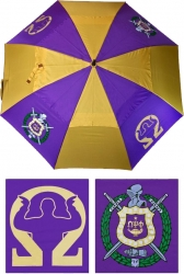 View Buying Options For The Omega Psi Phi Wind Resistant Auto Open Jumbo Umbrella