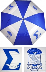 View Buying Options For The Phi Beta Sigma Wind Resistant Auto Open Jumbo Umbrella