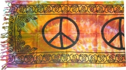 View Buying Options For The Peace Sign Mini Sarong Wrap