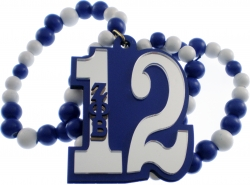 View Buying Options For The Zeta Phi Beta Line #12 Mirror Wood Color Bead Tiki Necklace