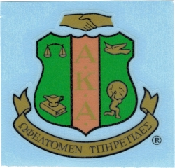 View Buying Options For The Alpha Kappa Alpha Crest Decal Sticker