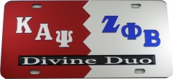 View Buying Options For The Kappa Alpha Psi + Zeta Phi Beta Divine Duo Split License Plate