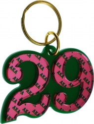 View Buying Options For The Alpha Kappa Alpha Color Mirror Line #29 Keychain